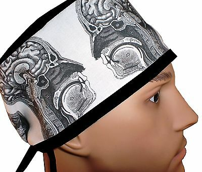 Brains Surgical Scrub Hat Theatre Cap Anatomy Sweatpad