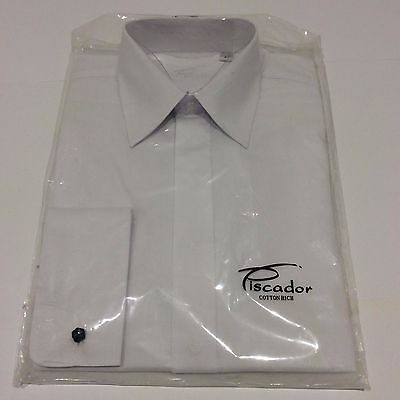 Mens Standard Plain Tuxedo Dinner Wedding Formal Dress Shirt Size 14 1/2
