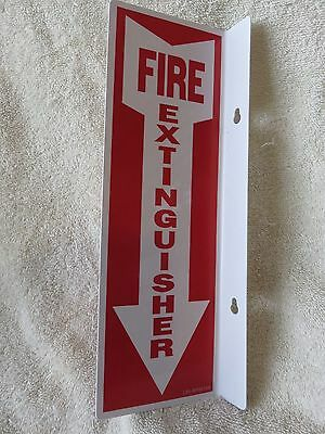 """(10-Signs) 4"""" X 12 Rigid Plastic 90* Angle """"fire Extinguisher Arrow"""" Signs...new"""