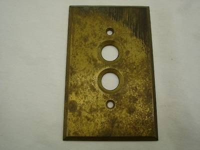 Antique Brass Push Button Switch Cover Electrical Vintage Plate Cover USA #1