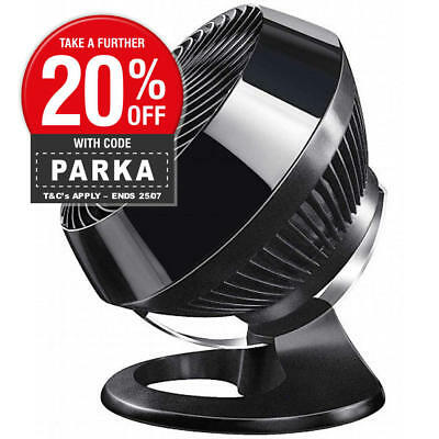 New Vornado Vortex 660 Floor Fan & Air Circulator Black Gloss