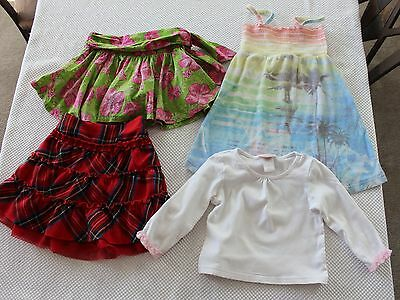 Girls Spring Summer Skirts Kids Clothes 4 Pc Lot  Size 4- 6Y