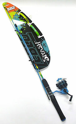 Zebco Splash 4' Kids Spin Fishing Combos 2 piece in Blue or Pink BRAND NEW