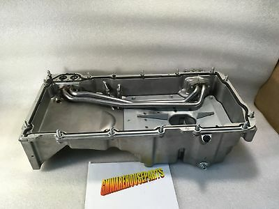 fabricated aluminum oil pan front sump chevy gm ls v8 swap ls1 ls2 ls1 ls2 front sump oil pan 2004 2006 gto new gm 12581209