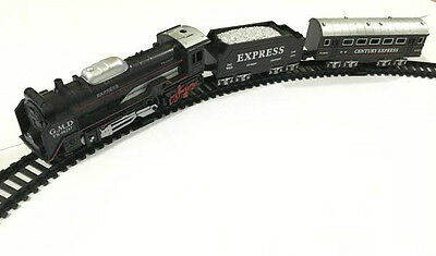 Train Set Gift Toy Railway Realistic Looks Battery Operate With 210cm Track 13pc