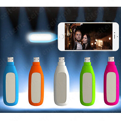 Mini Portable LED Selfie Flash Fill Lamp Light for iPhone 6s 7 Micro Cell Phone