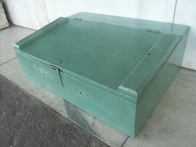 Vintage Painted Pine Tool Box / Chest / Trunk