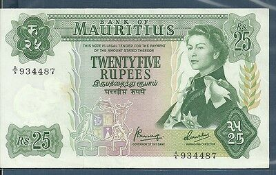 Mauritius 25 Rupees, 1967, P 32b, Sign 4, A5 934487, XF+