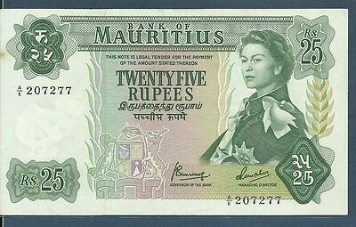 Mauritius 25 Rupees, 1967, P 32b, Sign 4, A6 207277, XF+