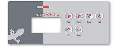 Spa & hot tub OVERLAY (decal) for Hydroquip ECO-3 Gecko TSC-35 Spa Builders K-35