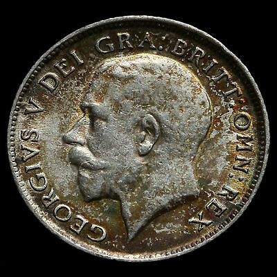 1918 George V Silver Sixpence – VF