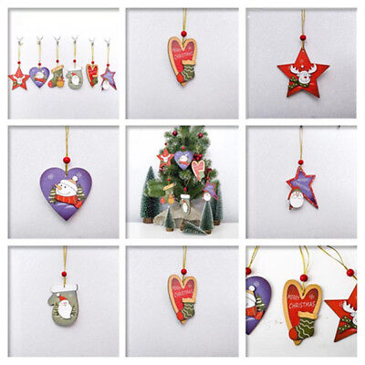 20Pcs!14mm Christmas Ornaments Snow Crystal Pendant Beads Hanging Decorations