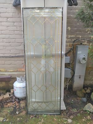 Leaded glass door panel
