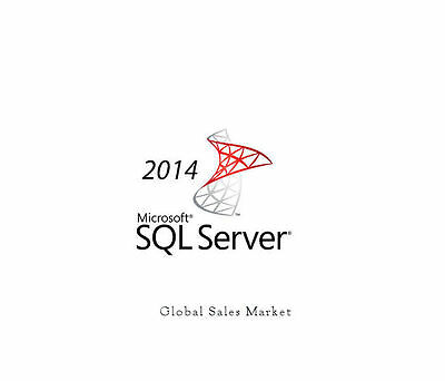 Microsoft SQL Server 2014 Standard Edition  Server Software 10 CAL's