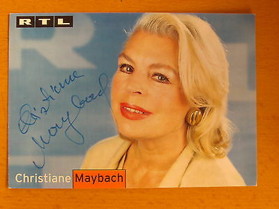Christiane Maybach Original Autogramm