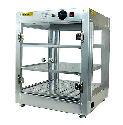 Commercial 20x20x24 Countertop Food Pizza Pastry Warmer Display Cabinet Case 1