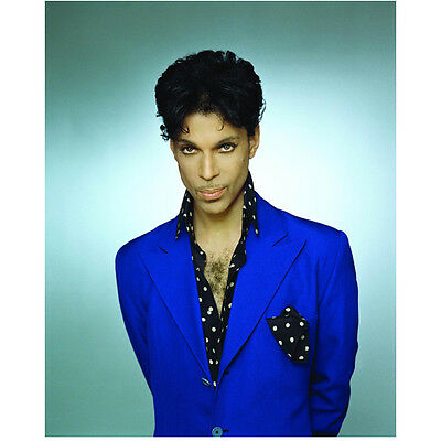 Prince Close Up in Purple and Black Polka Dots Fierce 8 x 10 inch photo