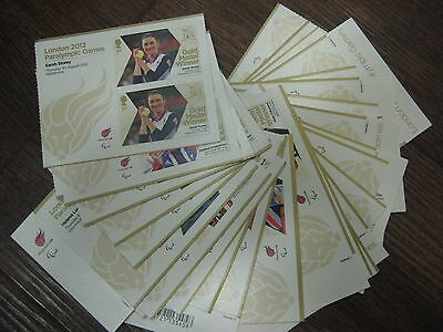 2012 Complete Unit MINIATURE SHEETS GOLD MEDALS LONDON PARALYMPIC SET 34 VALUES