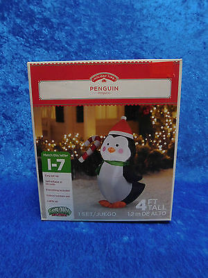 4' Airblown Inflatable Penguin LIGHTS UP Christmas