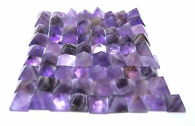 50 Amethyst Crystal Loose Healing Pyramids Feng Shui Metaphysical Gift Bagua