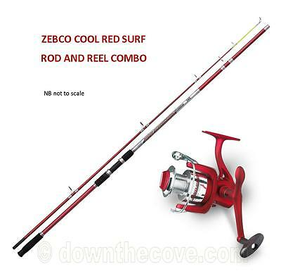 Zebco Cool Power Red Surf Rod 200g 3.6m & Cool Red Surf FD Reel Combo FEDEX 24hr