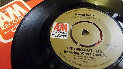 CHECKMATES LTD feat SONNY CHARLES SPANISH HARLEM c/w PROUD MARY A&M RECORDS 1969