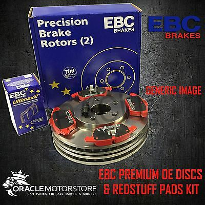 NEW EBC 300mm FRONT BRAKE DISCS AND REDSTUFF PADS KIT OE QUALITY - PD02KF358