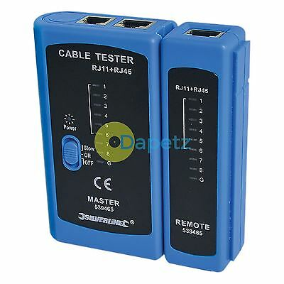 Lan Tester - Rj11 & Rj45 Wire Tracker Toner Tracer Twin Speed