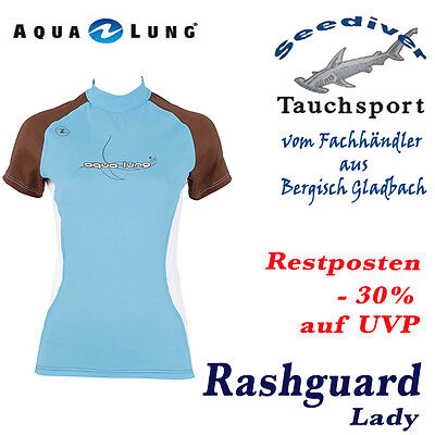 Aqualung Rash Guard Cocovanilla, UV-Schutz Lycra Shirt, UV-Shirt