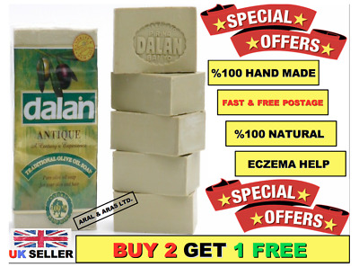 5 x180g Dalan Soap 100% Natural Hand Made Turkish Traditional Olive Oil Bathroom