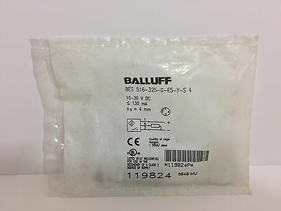 Factory Sealed! Balluff Proximity Switch Bes-516-325-G-E5-Y-S-4 10-30 Vdc 130 Ma
