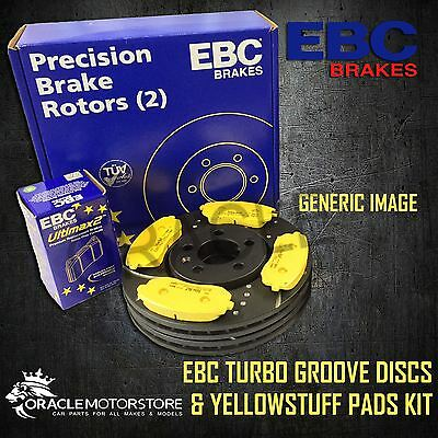 NEW EBC 345mm FRONT TURBO GROOVE GD DISCS AND YELLOWSTUFF PADS KIT PD13KF551