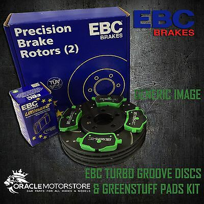 NEW EBC 282mm FRONT TURBO GROOVE GD DISCS AND GREENSTUFF PADS KIT KIT6999