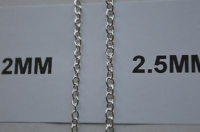 UK Jewellery 250 Silver Trace Link Necklace Pendant Locket Jewellery Chains