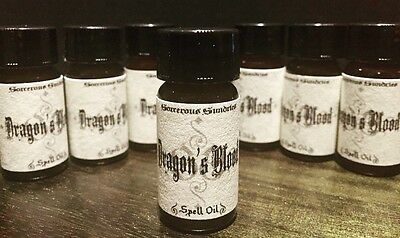 Dragons blood anointing oil 10mls - goth wicca witchcraft pagan spell