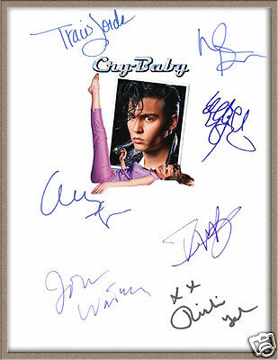 "Johnny Depp Iggy Pop Traci Lords Signed X7 ""cry Baby"" Movie Musical Script Rpt"