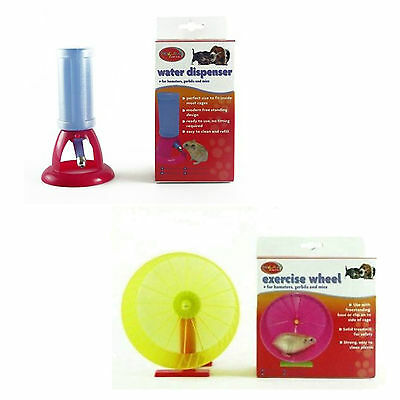 Small Pet Hamster Gerbil Mice Exercise Wheel , Ball ,Water Dispenser Accessories