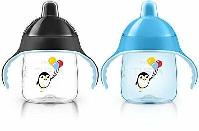 Philips Avent My Penguin Sippy Cup Blue 9 Ounce Pack of 2 Stage 2
