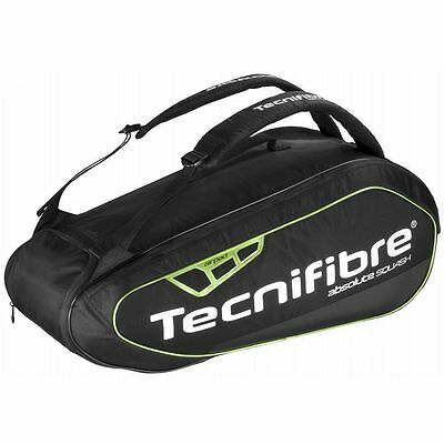 Tecnifibre Absolute Green 9 Racket Squash Thermo Bag - Black & Green - Rrp £100