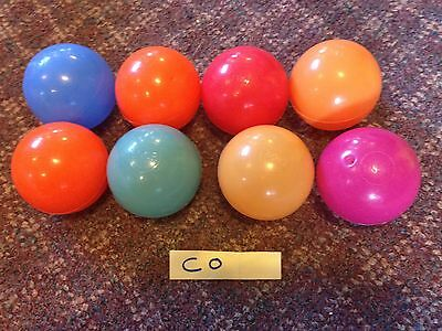 Lot Of 8 Soft Plastic Multi-Colored Play Balls By Enor GUC