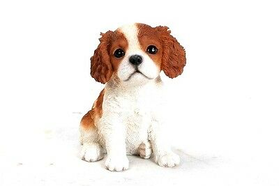 Cavalier King Charles Spaniel New Realistic Intricately Detailed Puppy Figurine