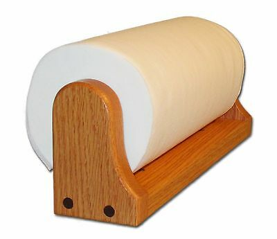 Oak Paper Towel Holder (Mounted) by American Family Woodworking