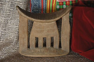 Old African Ethiopian Carved Wooden Headrest …beautiful collection piece