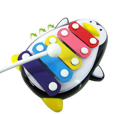 Penguin Design Educational 5-Note Xylophone Musical Instrument Toy For Baby Kids