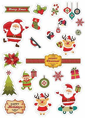 Chrismast sticker ( 3 stickers A3 size per set) ONLY $10. Available in SYD.