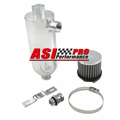 PRO 750ml Racing Turbo Engine Oil Catch Can Tank with Breather & Drain Tap NPT