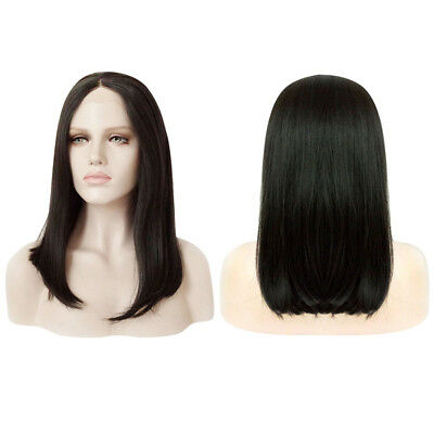 Silky Straight Medium Hair Heat Resistant Synthetic Lace Front Cutting Bob Wigs