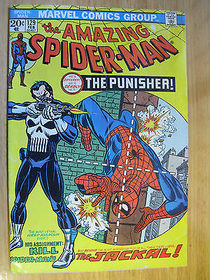Amazing Spiderman #129. 1St Appearance Of The Punisher. Vg.