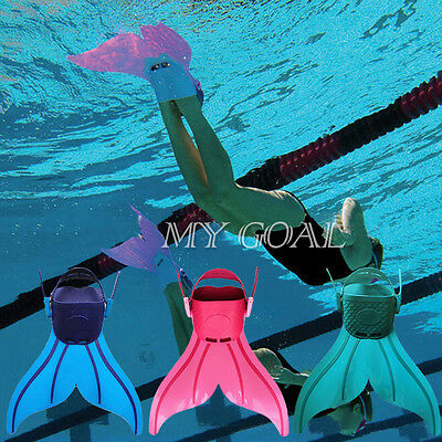 Kids Child Swimming Gear Wave Fins Diving Flippers Mermaid Shoes Tail Monofin UK