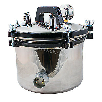 stainless steel Dental Autoclave Steam Sterilizer Pressure Sterilization 18L